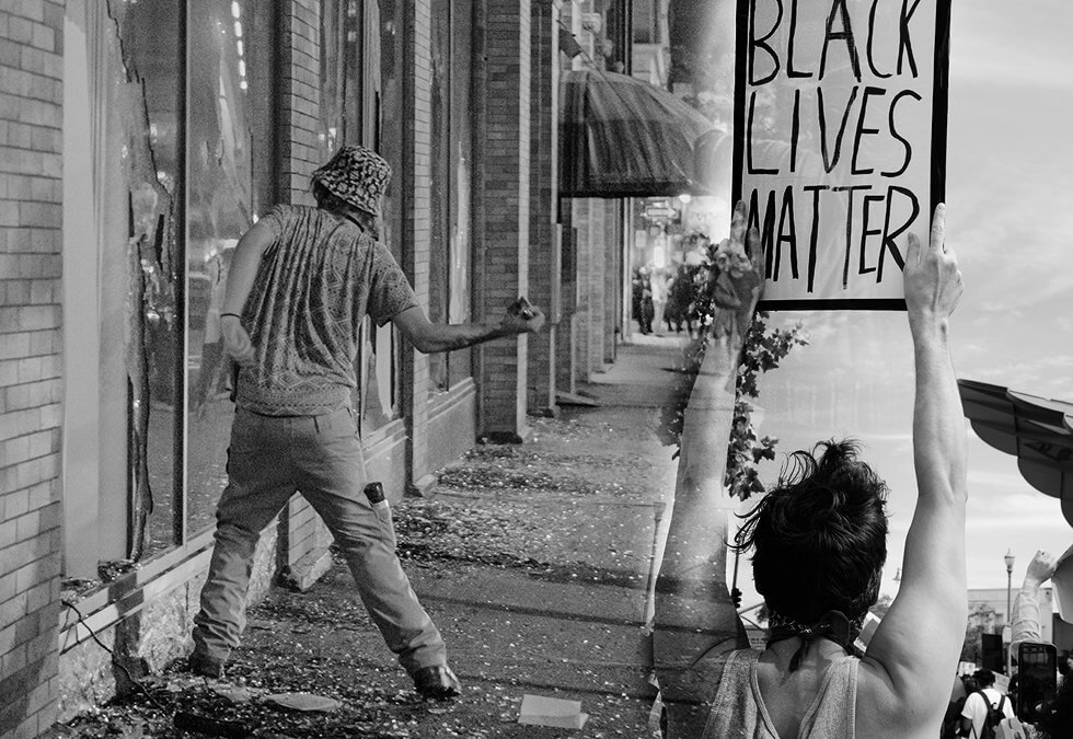 Coffee Shops looted during George Floyd Black Lives Matter Protests